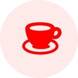 画像:コーヒーカップのシルエット