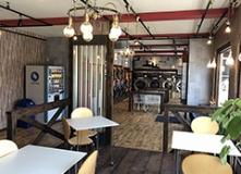 写真:糸島潤店のカフェ